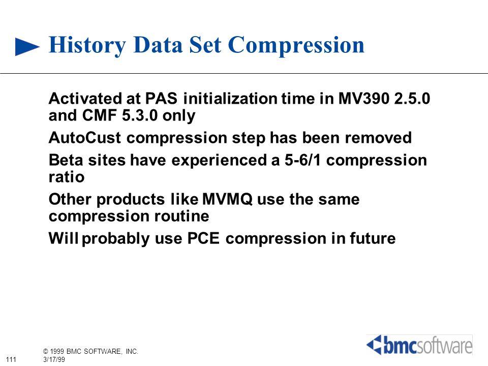 History Data Set Compression