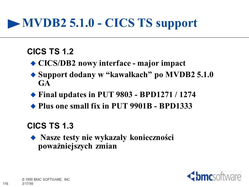 MVDB2 5.1.0 - CICS TS support CICS TS 1.2