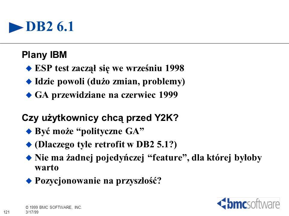 DB2 6.1 Plany IBM ESP test zaczął się we wrześniu 1998
