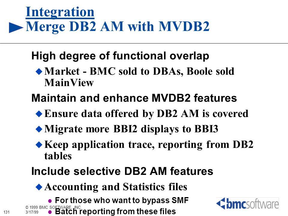 Integration Merge DB2 AM with MVDB2
