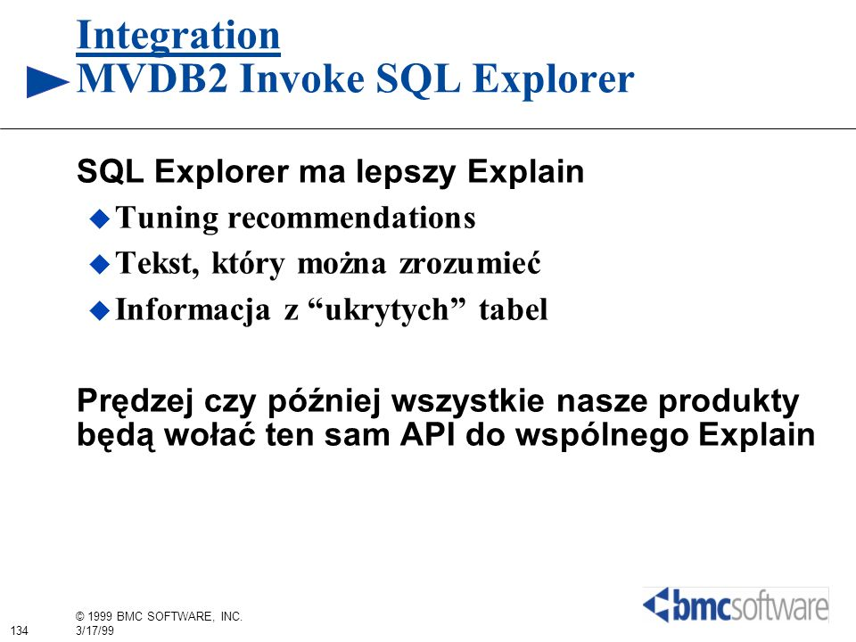 Integration MVDB2 Invoke SQL Explorer