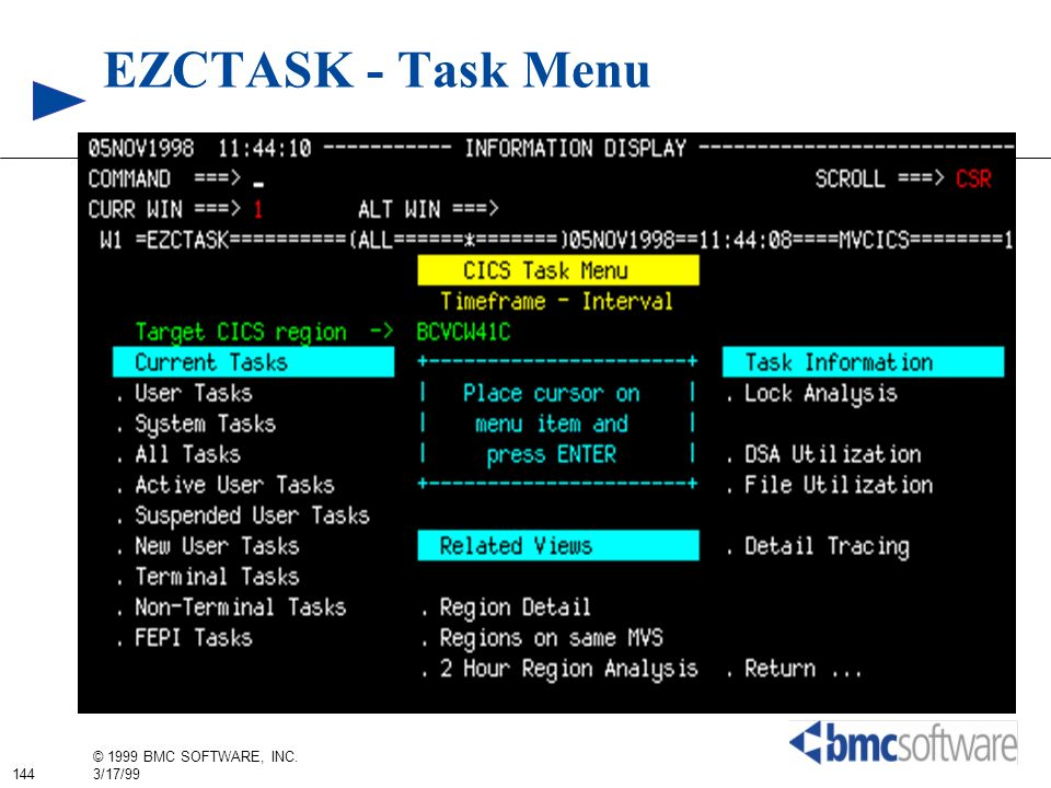 EZCTASK - Task Menu
