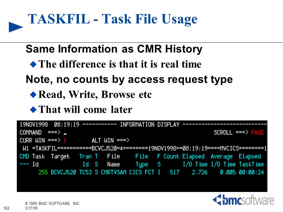 TASKFIL - Task File Usage