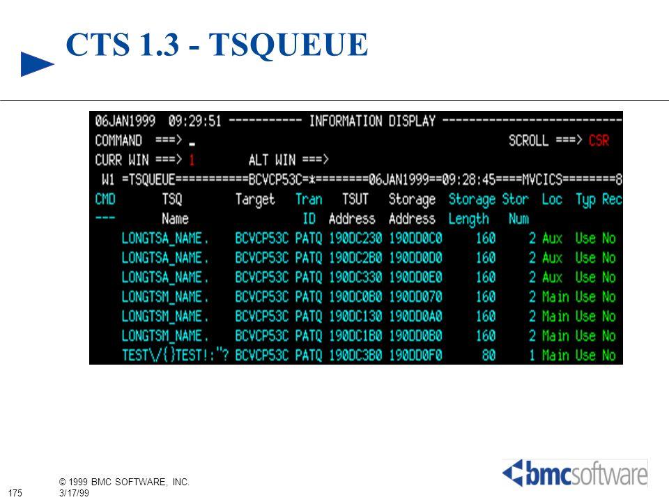 CTS 1.3 - TSQUEUE