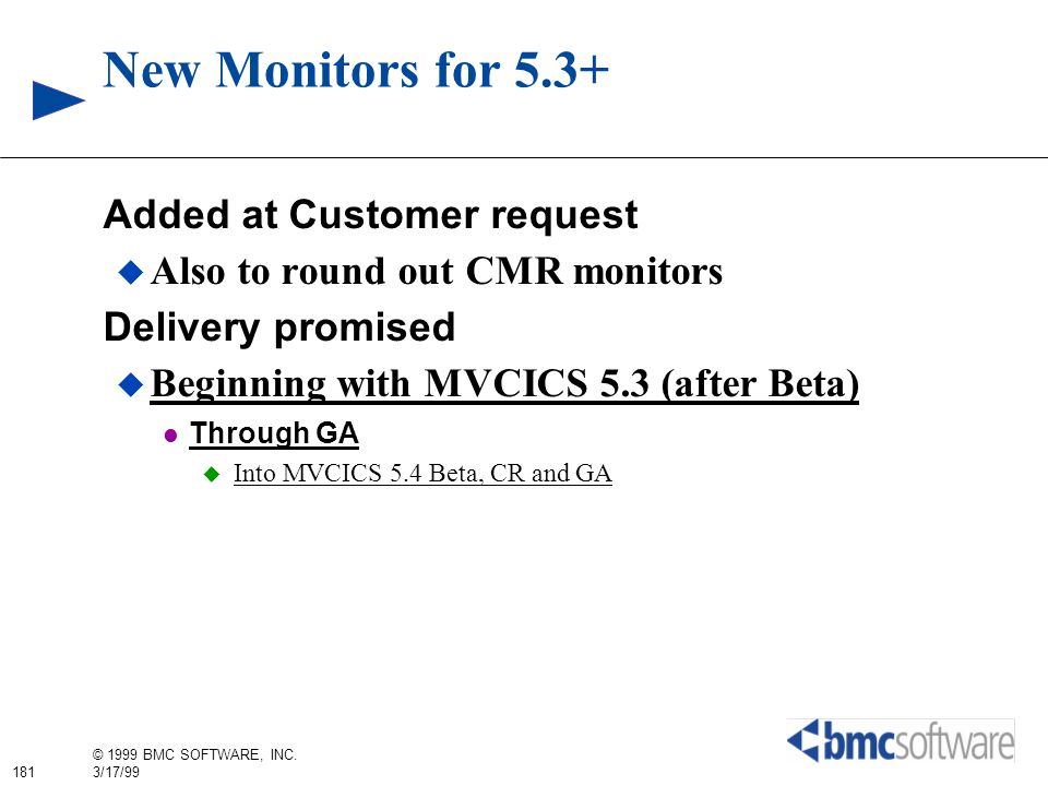 New Monitors for 5.3+ Added at Customer request