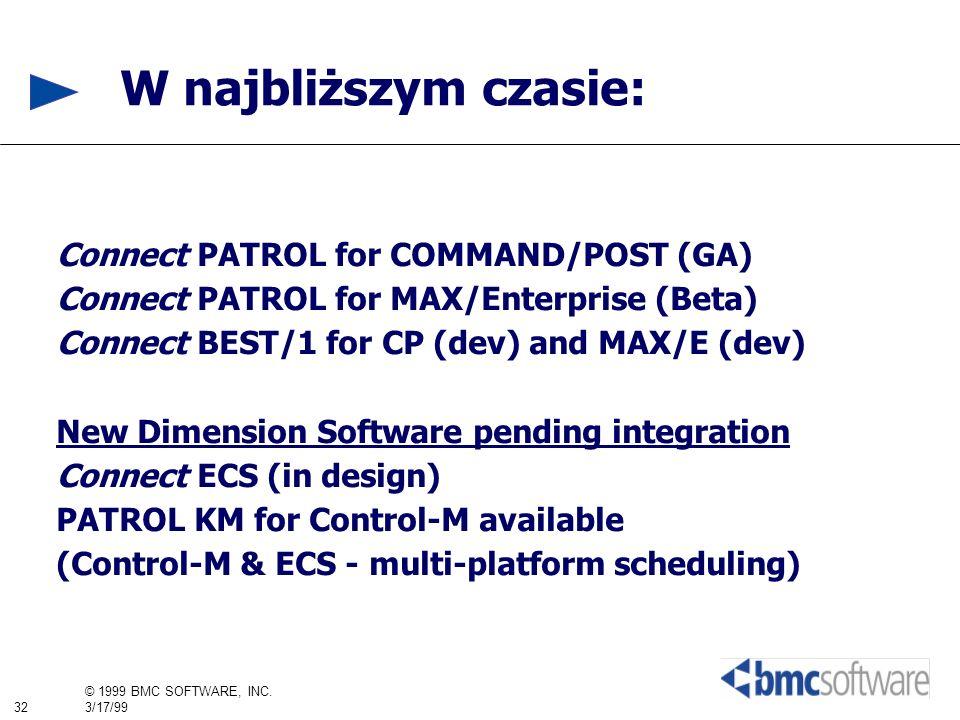 W najbliższym czasie: Connect PATROL for COMMAND/POST (GA)