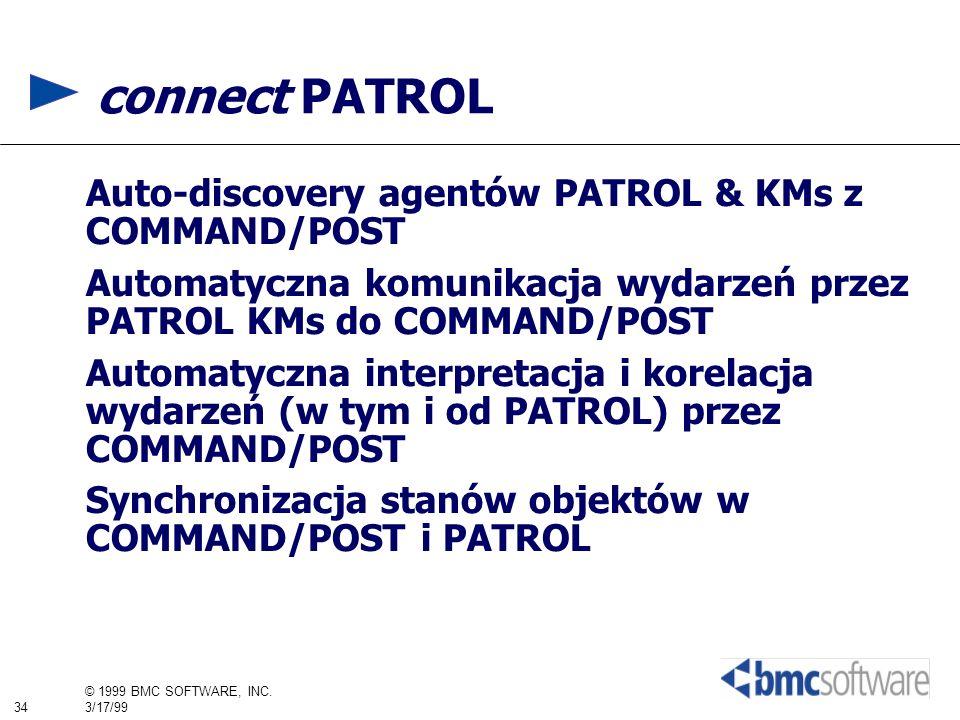 connect PATROL Auto-discovery agentów PATROL & KMs z COMMAND/POST