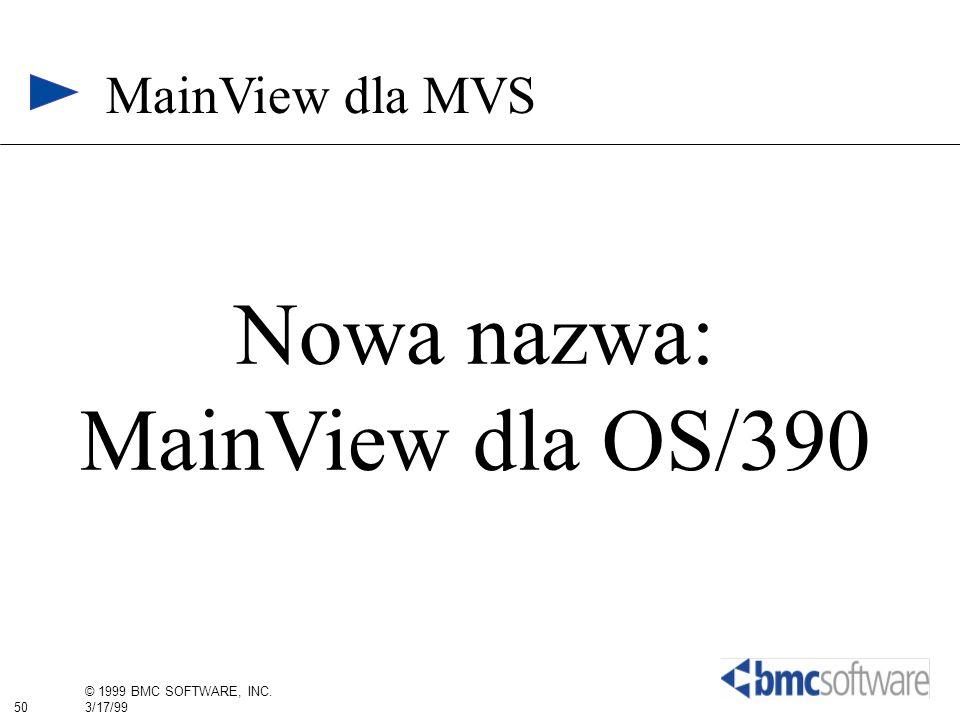 MainView dla MVS Nowa nazwa: MainView dla OS/390