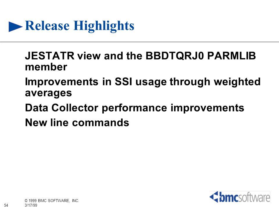 Release Highlights JESTATR view and the BBDTQRJ0 PARMLIB member