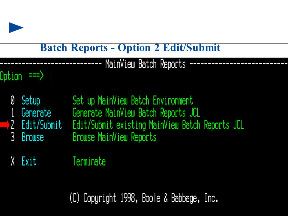 Batch Reports - Option 2 Edit/Submit