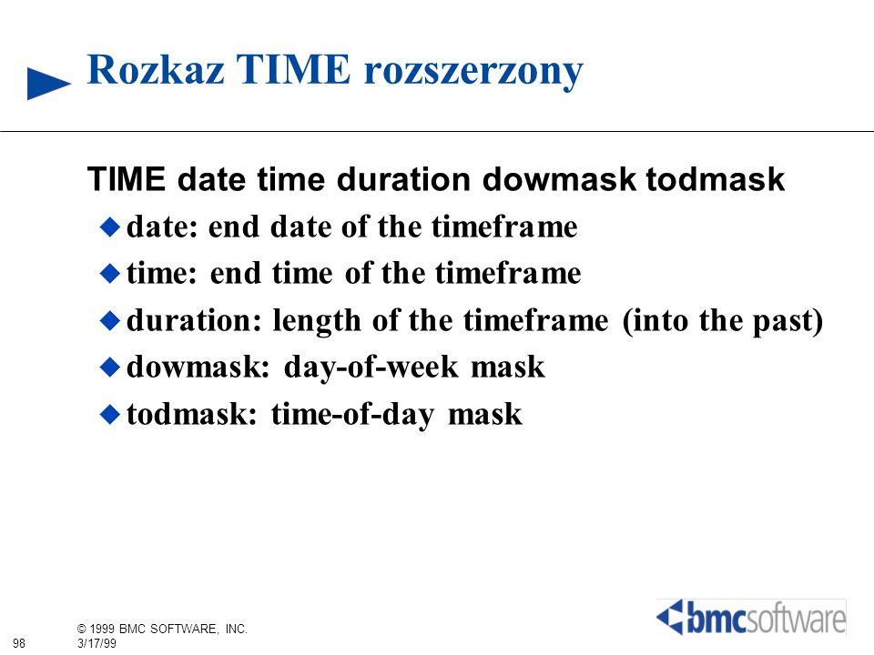 Rozkaz TIME rozszerzony