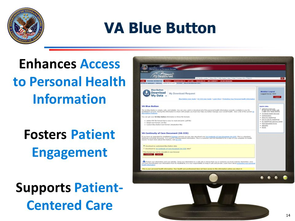 VA Blue Button Enhances Access to Personal Health Information