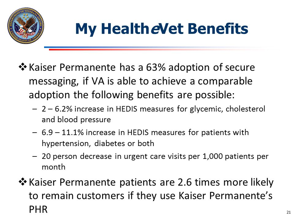 My HealtheVet Benefits
