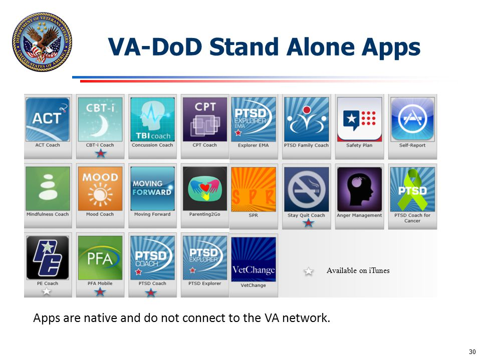 VA-DoD Stand Alone Apps