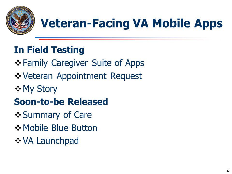 Veteran-Facing VA Mobile Apps