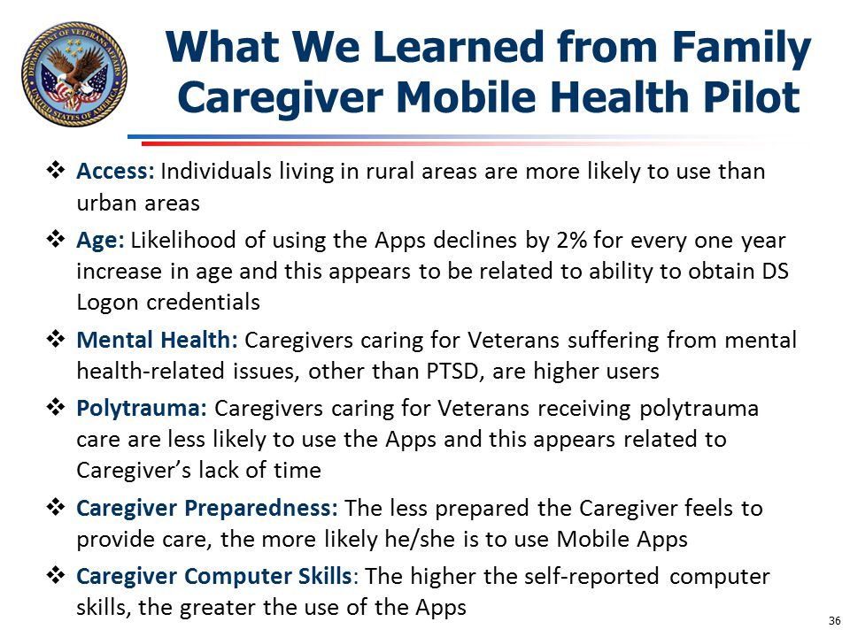 What We Learned from Family Caregiver Mobile Health Pilot