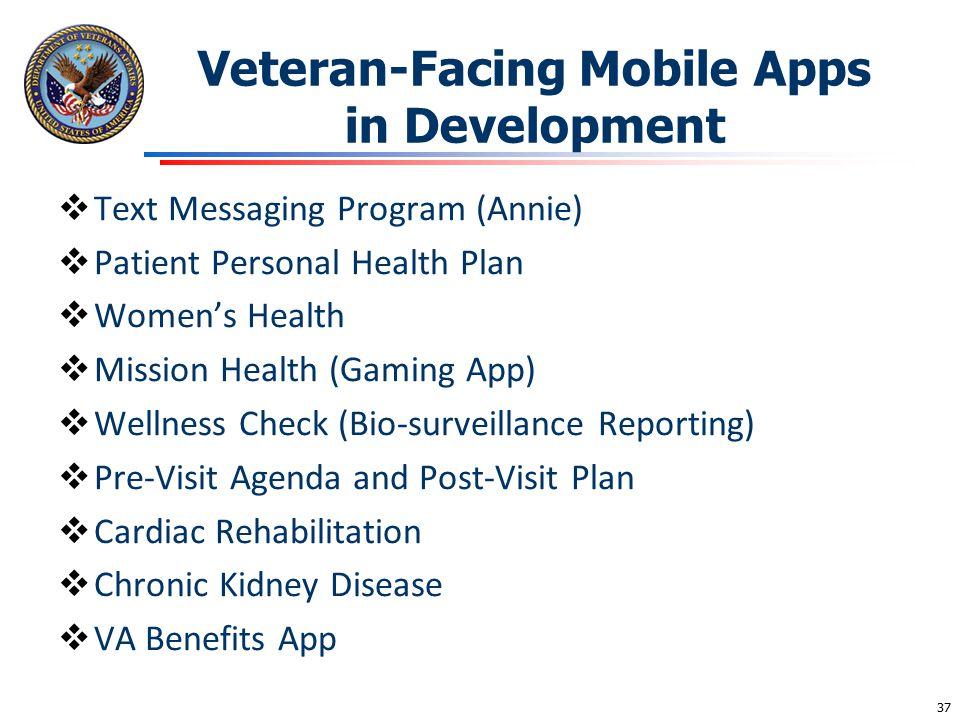 Veteran-Facing Mobile Apps in Development
