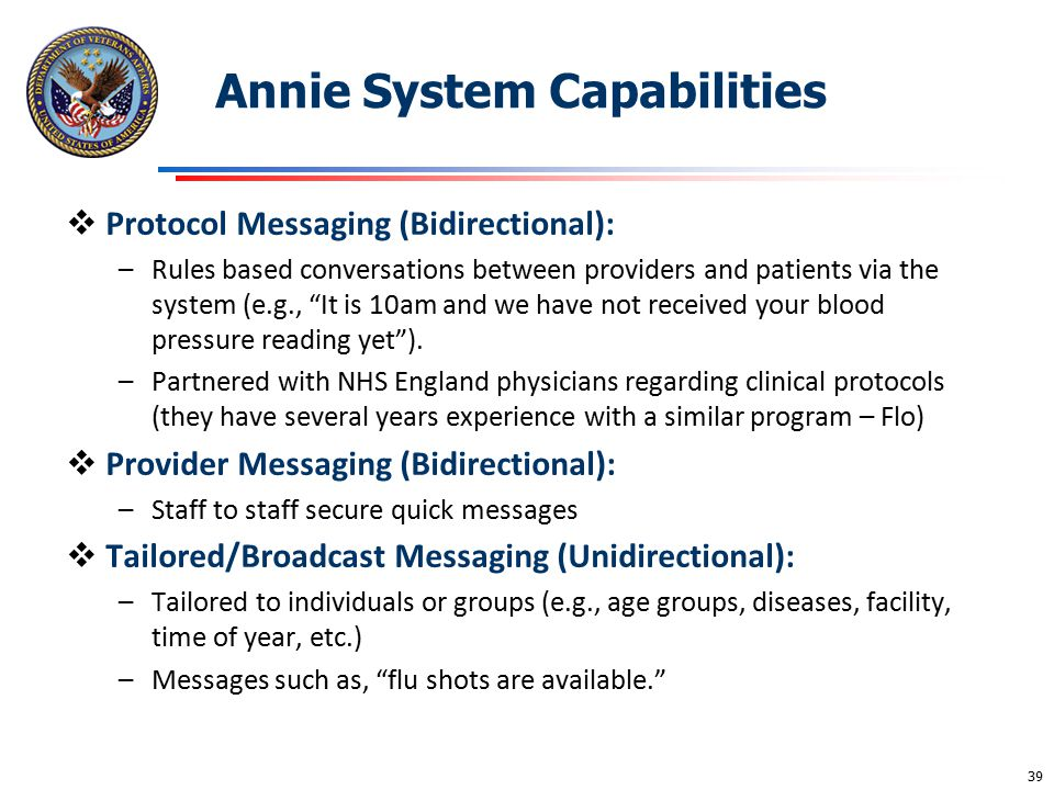 Annie System Capabilities