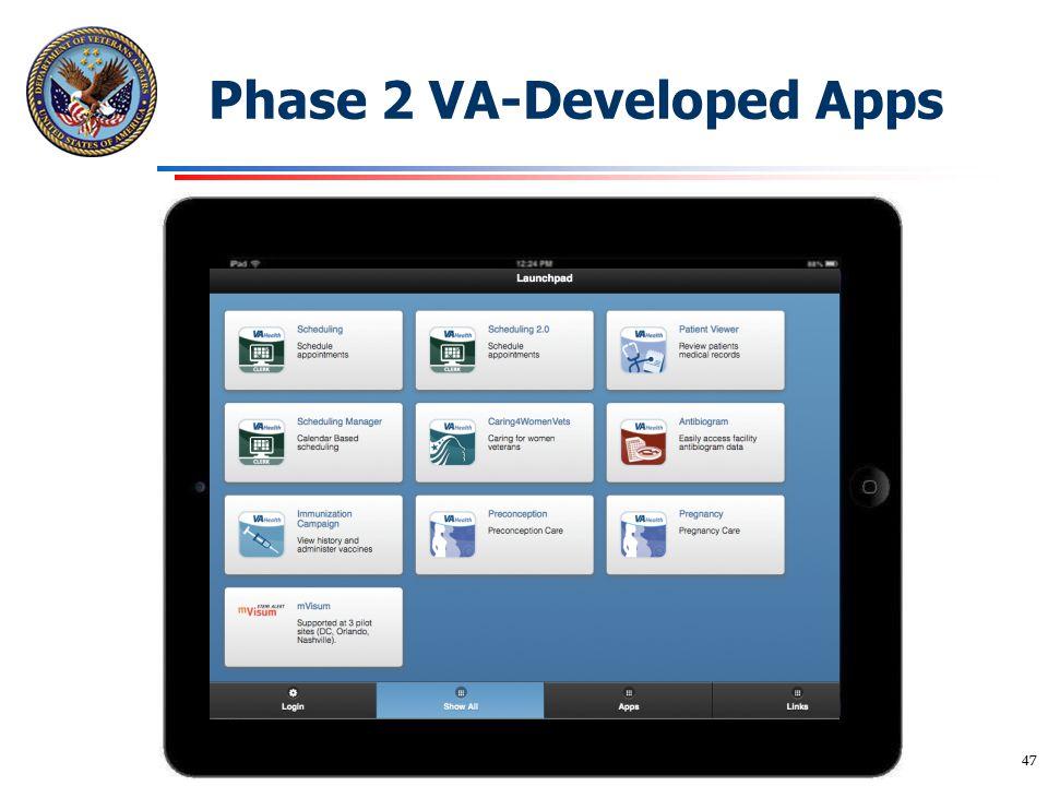 Phase 2 VA-Developed Apps