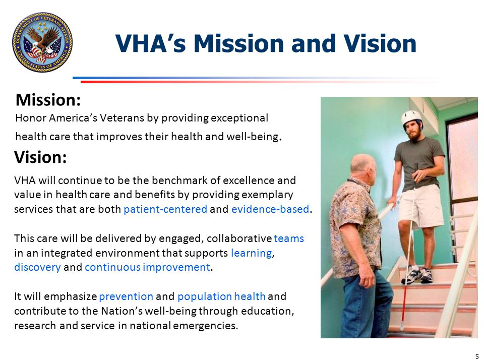 VHA's Mission and Vision