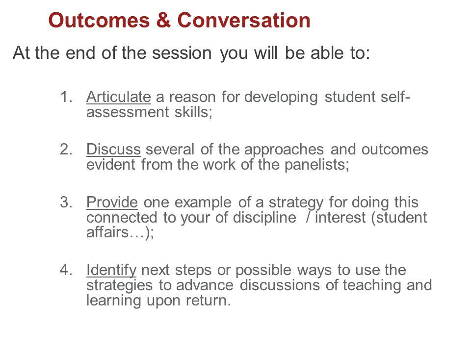 Outcomes & Conversation