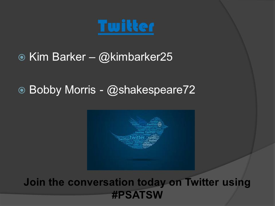 Join the conversation today on Twitter using #PSATSW