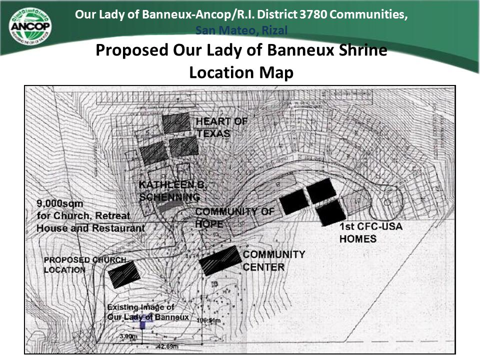 Proposed Our Lady of Banneux Shrine Location Map