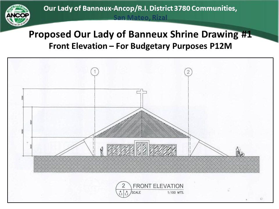 Proposed Our Lady of Banneux Shrine Drawing #1