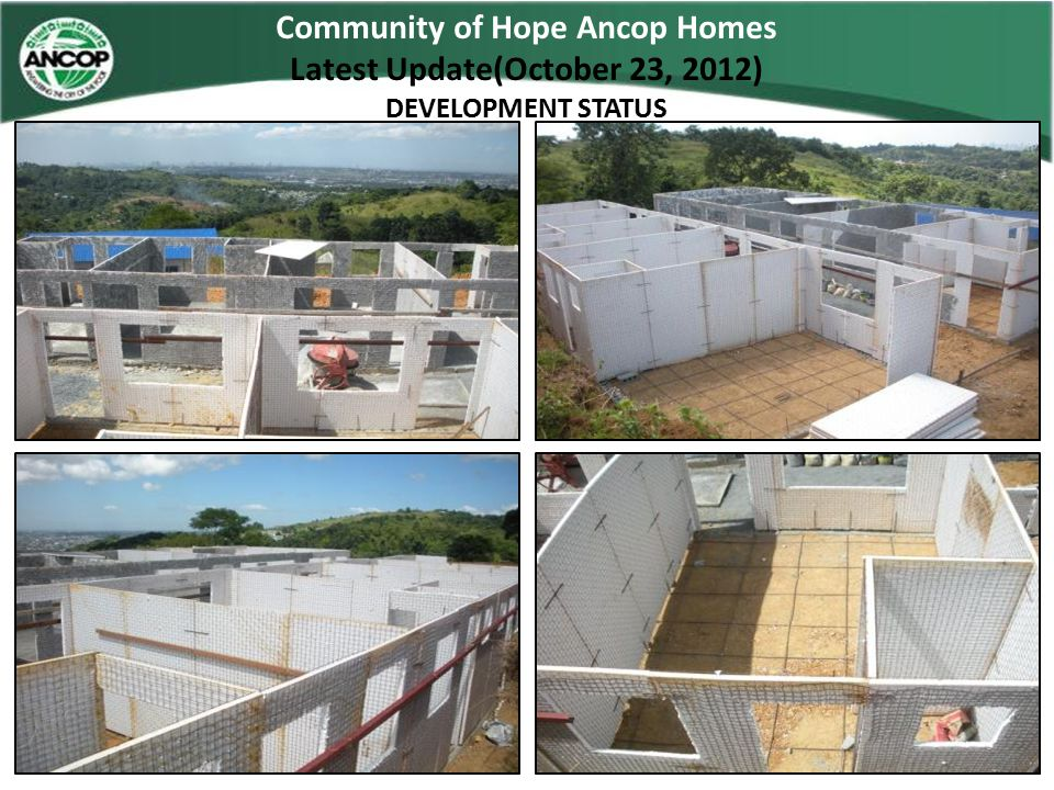 Community of Hope Ancop Homes Latest Update(October 23, 2012)