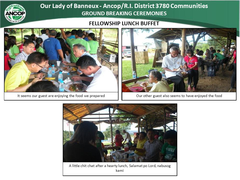 Our Lady of Banneux - Ancop/R.I. District 3780 Communities