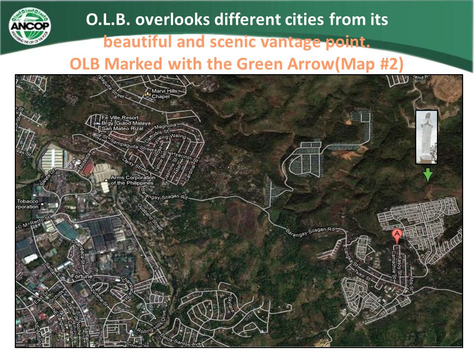 OLB Marked with the Green Arrow(Map #2)