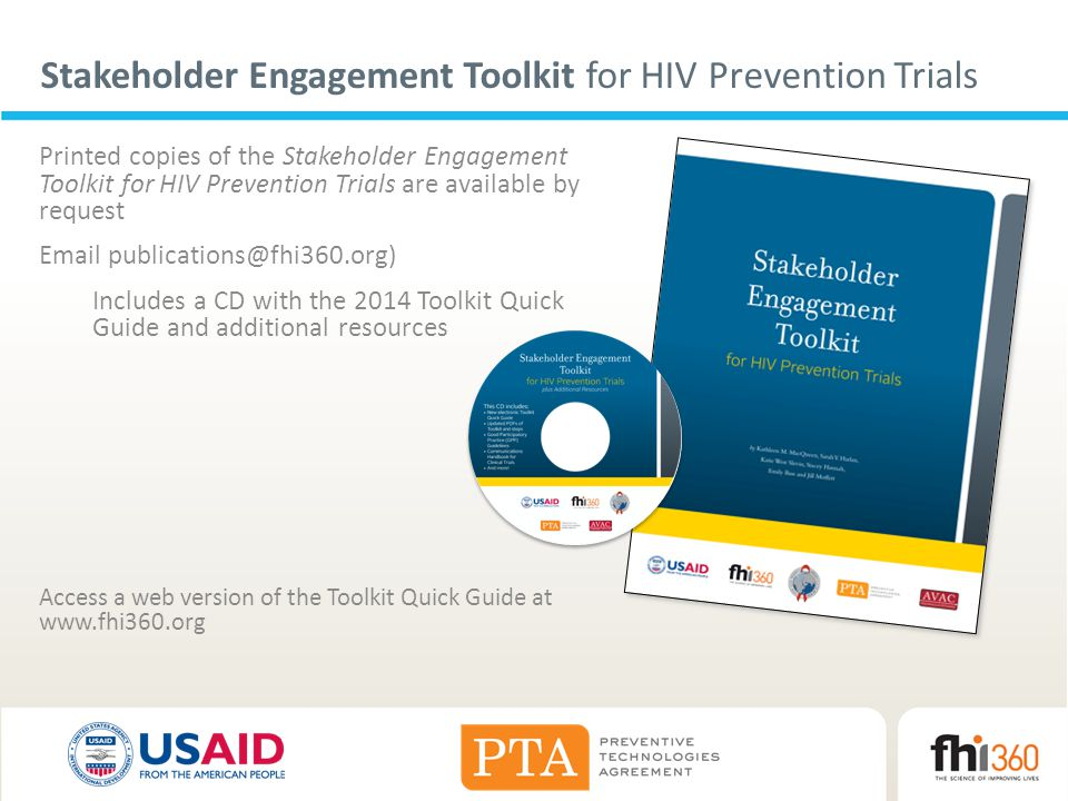Stakeholder Engagement Toolkit for HIV Prevention Trials