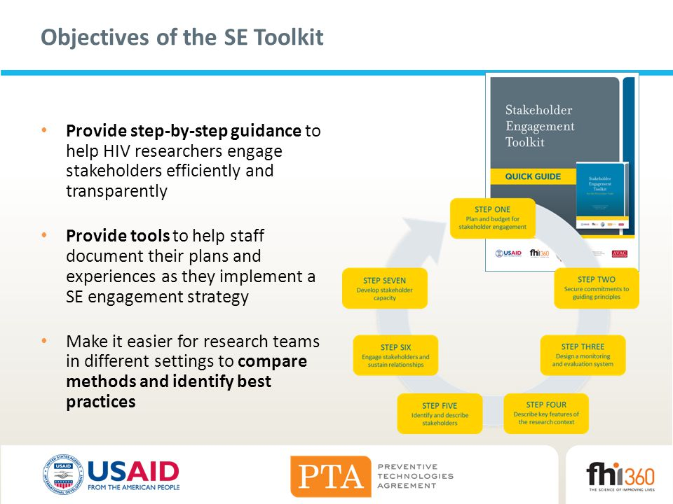 Objectives of the SE Toolkit