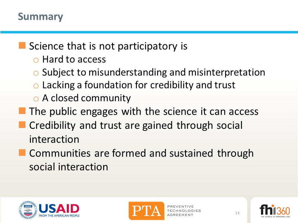 Science that is not participatory is