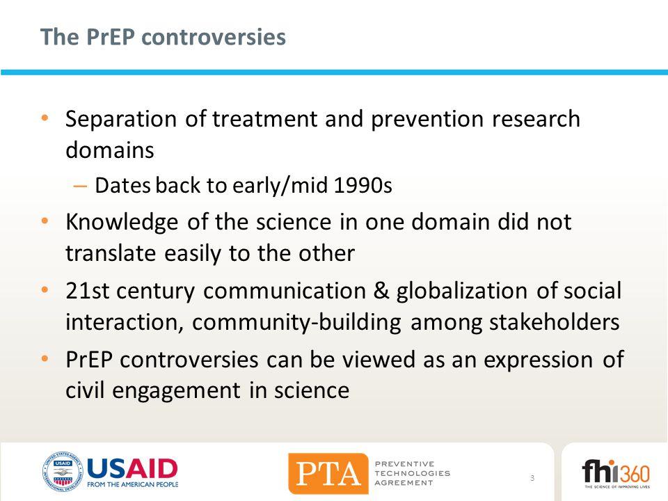 The PrEP controversies