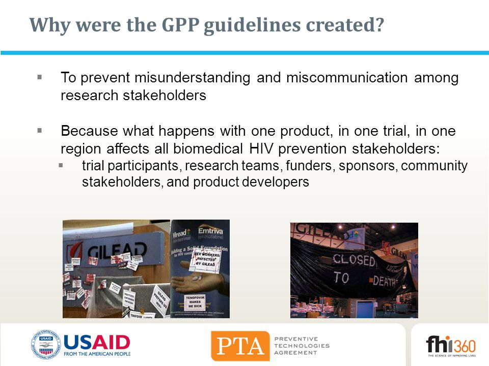 Why were the GPP guidelines created