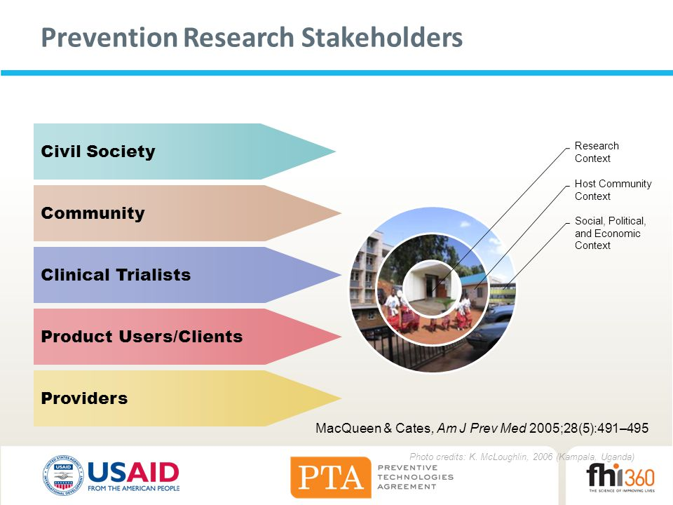 Prevention Research Stakeholders