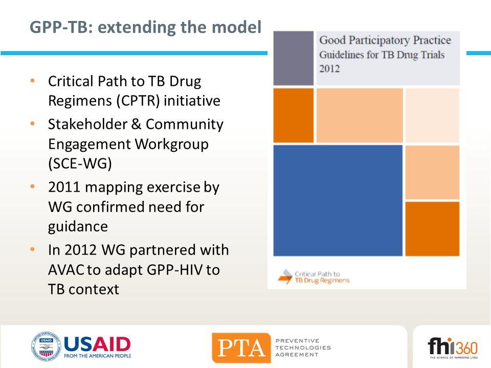 GPP-TB: extending the model