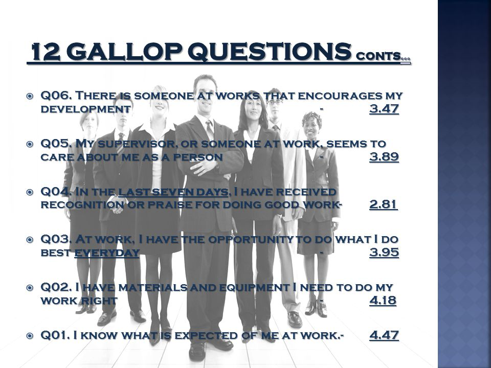 12 Gallop Questions Conts…