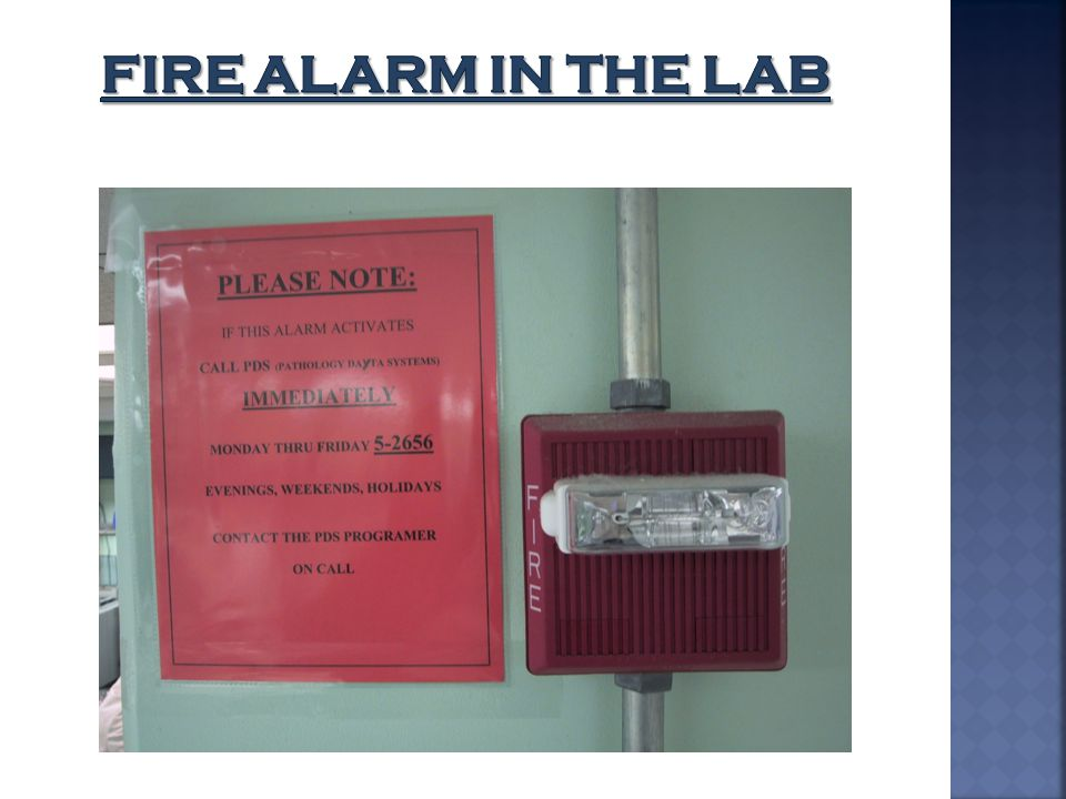 Fire Alarm in the lab