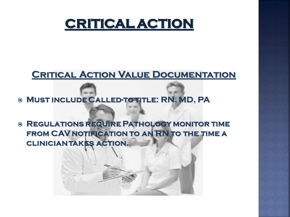 Critical Action Value Documentation