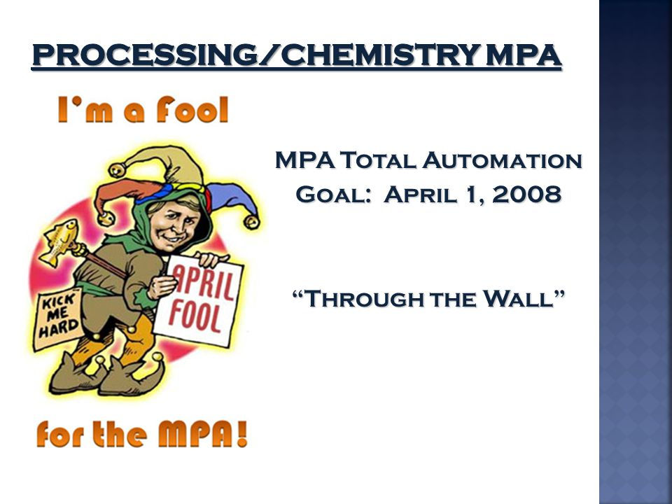 Processing/Chemistry MPA