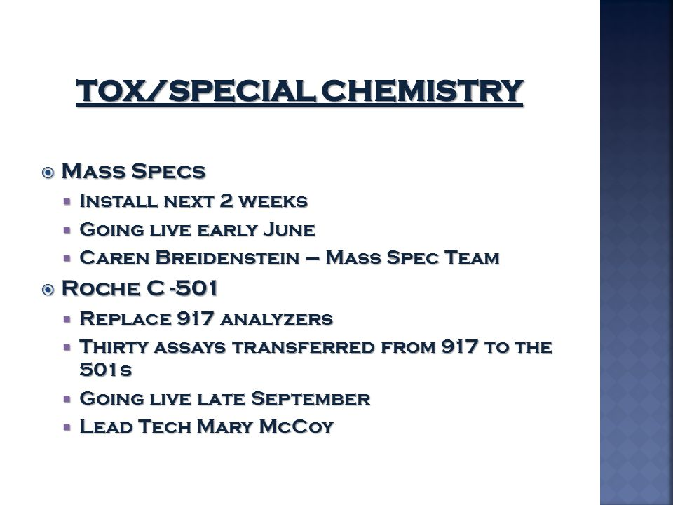 TOX/Special Chemistry