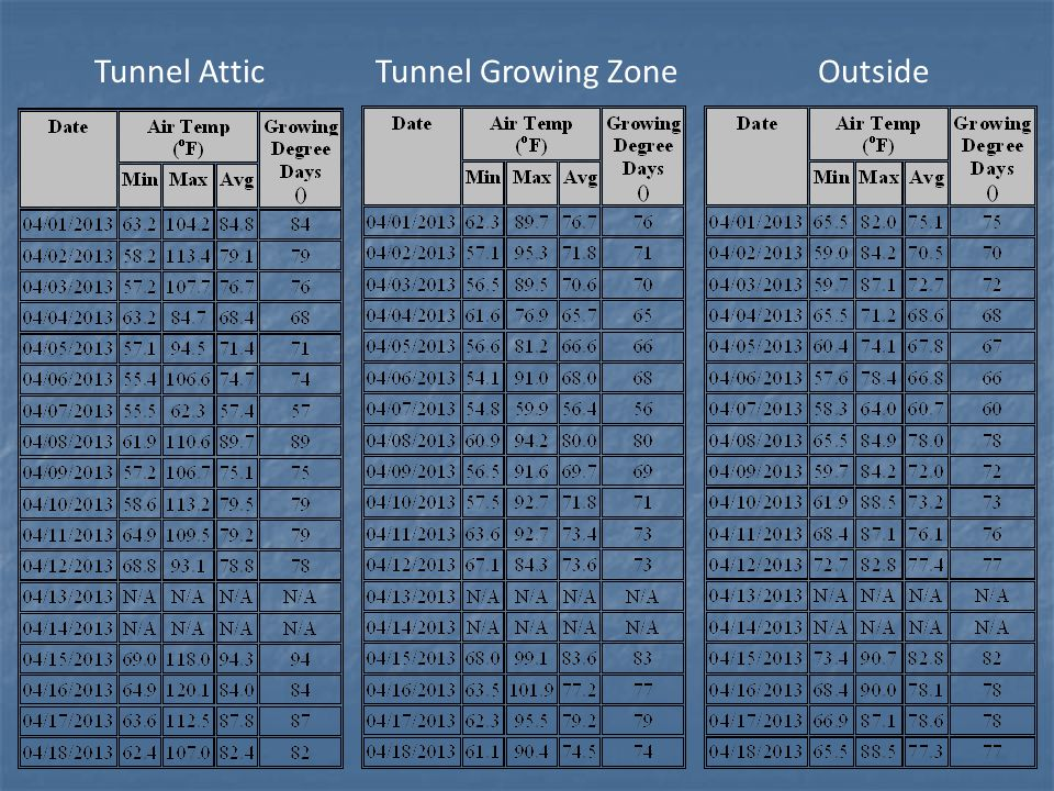 Tunnel Attic Tunnel Growing Zone Outside