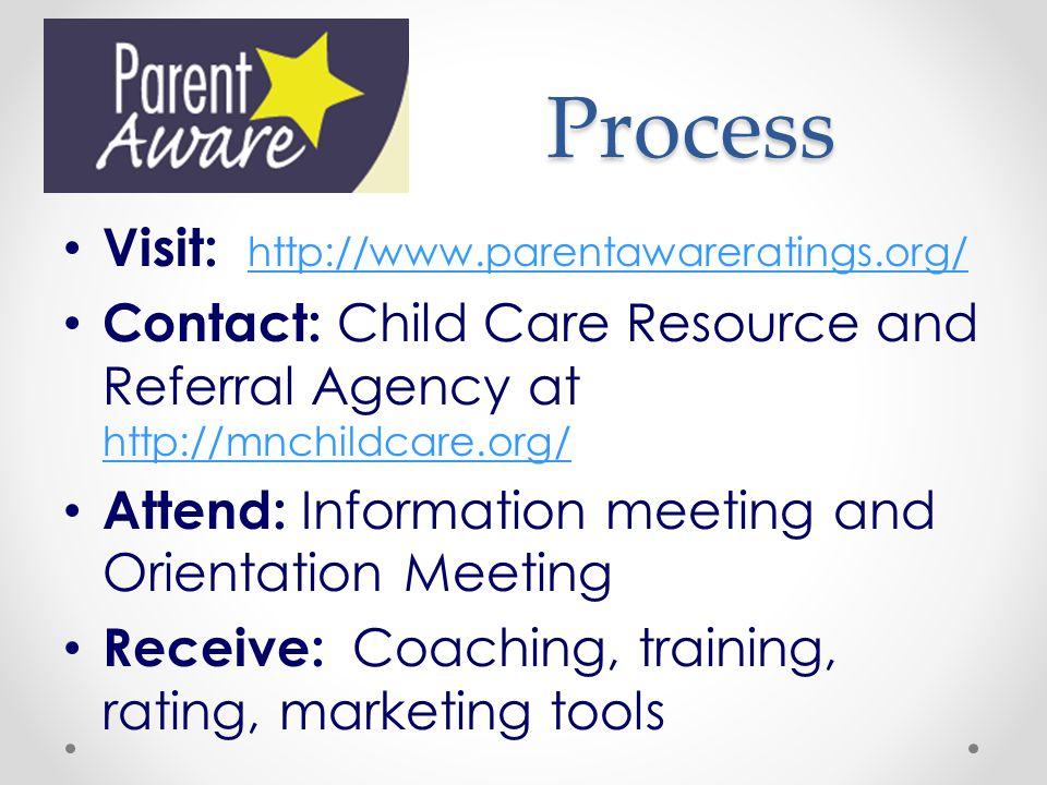 Process Visit: http://www.parentawareratings.org/