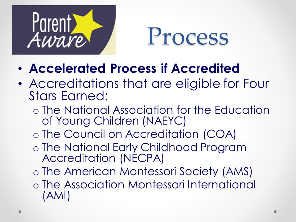 Process Accelerated Process if Accredited