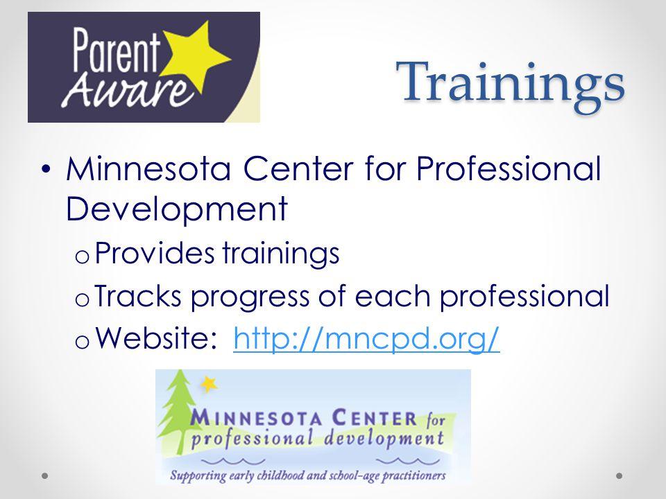 Trainings Minnesota Center for Professional Development