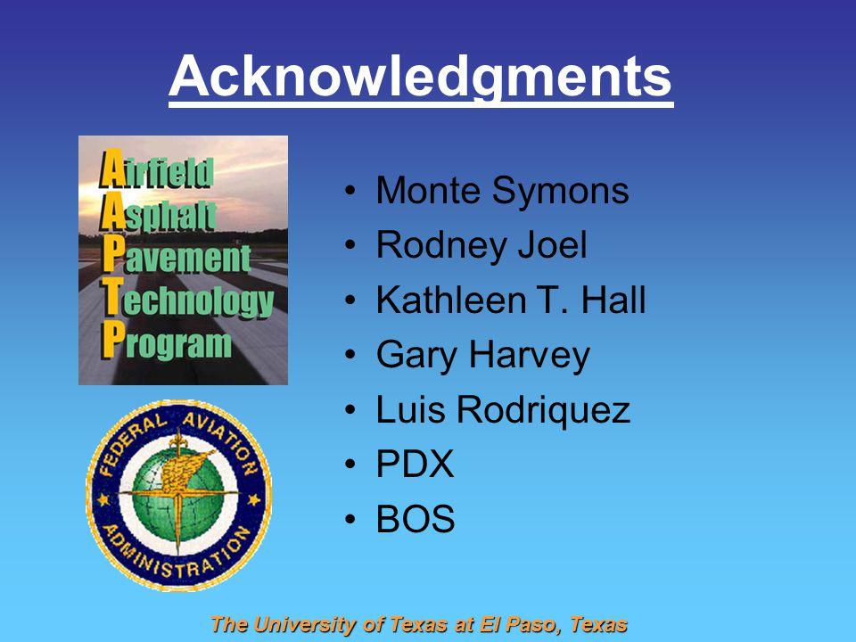 Acknowledgments Monte Symons Rodney Joel Kathleen T. Hall Gary Harvey