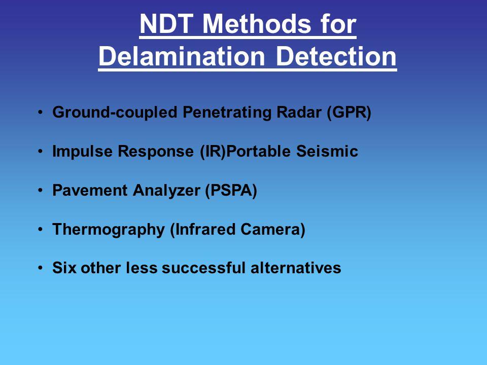 NDT Methods for Delamination Detection
