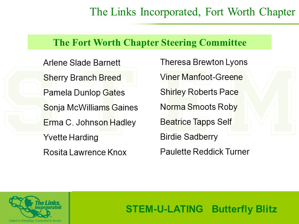 The Links Incorporated, Fort Worth Chapter